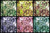 foto of camouflage  - set of exotic digital camouflage as background or pattern - JPG