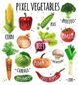 picture of leek  - Pixel vegetables corn - JPG