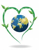 picture of nature conservation  - Vector Conservation Of Nature  EPS file  - JPG
