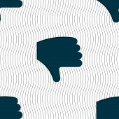picture of dislike  - Dislike Thumb down Hand finger down icon sign - JPG