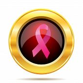 foto of  breasts  - Breast cancer ribbon icon - JPG