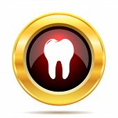 image of gold tooth  - Tooth icon - JPG