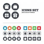 foto of ribbon bow  - Gift box sign icons - JPG