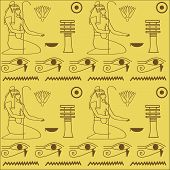 image of hieroglyph  - pattern of Egyptian hieroglyphics vector illustration - JPG