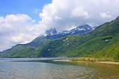 picture of annecy  - Lake Annecy in the French Alps in spring - JPG