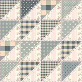 stock photo of quilt  - Seamless background pattern - JPG