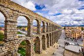stock photo of aqueduct  - Segovia - JPG