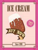 foto of ice cream parlor  - Vintage menu card design for Ice Cream parlour - JPG