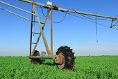 foto of sprinkler  - Crop Irrigation using the center pivot sprinkler system - JPG