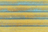 pic of ferrous metal  - Close up steel surface get corrode in construction site - JPG