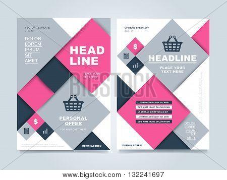brochure design creative brochure design business template of brochure or flyer annual report - Colorful Brochure Templates