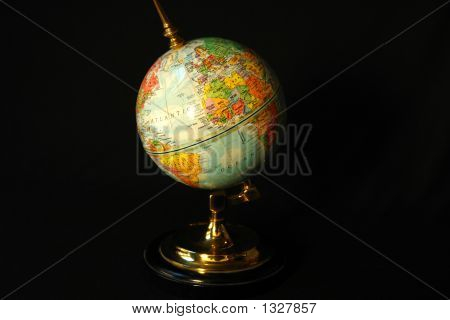 Blue World Globe poster