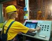 stock photo of factory-worker  - Factory operator - JPG