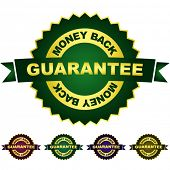 Guarantee money back. Vector set.