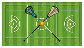 Regulation Lacrosse Field And Sticks poster