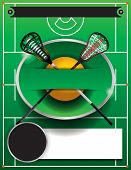 Lacrosse Template Flyer poster