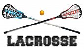Lacrosse Design Illustration poster