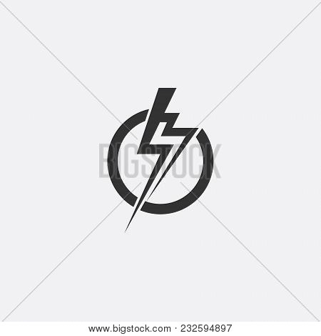 Lightning Electric Power Vector Icon Design Element Energy And