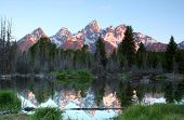The Grand Tetons at Sunrise poster