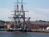 stock photo of uss constitution  - the uss constitution in boston - JPG