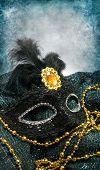 Black carnival mask poster