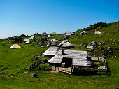 picture of velika  - Sheppherd Village in Velika Planina, Julian Alps in Slovenia. ** Note: Slight graininess, best at smaller sizes - JPG