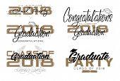 Graduation Label. Vector Text For Graduation Design, Congratulation Event, Party, High School Or Col poster