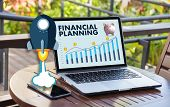 Financial Planning Retirement Planning Woman And Man At Retirement  With Consultant Or Adviser poster