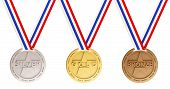 Gold, Silver And Bronze Medals