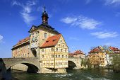 picture of regnitz  - Old Town Hall in Bamberg - JPG