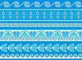 picture of neoclassical  - Decorative greek borders done as samples and vector brushes - JPG