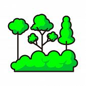 Tree Icon Isolated On White Background From Environment Collection. Tree Icon Trendy And Modern Tree poster