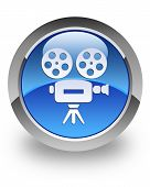 Video camera glossy icon