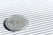 Ripple(xrp) Coin. Data Protection, Security And Data Exchange, Keep Wallet Safe And Protecting Again poster