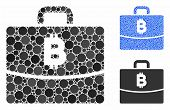 Bitcoin Accounting Case Mosaic Of Spheric Dots In Different Sizes And Color Tones, Based On Bitcoin  poster