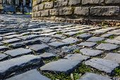 Detail Of The Famous Cobblestone Road Muur Van Geraardsbergen Located In Belgium. On This Road Every poster