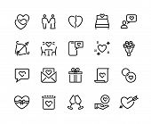 Love Line Icons. Volunteer Charity Friendship And Solidarity Outline Pictograms, Charity Handshake A poster