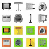 Vector Design Of Household And Appliances Symbol. Household And Appliance Vector Icon For Stock. poster