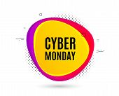 Cyber Monday Sale. Banner Text Shape. Special Offer Price Sign. Advertising Discounts Symbol. Geomet poster