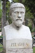 stock photo of pythagoras  - Rome Italy - JPG