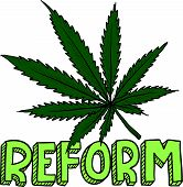 picture of reggae  - Doodle style marijuana law reform sketch in vector format - JPG