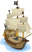picture of plunder  - Illustration of Pirate Ship in two - JPG