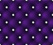 stock photo of gem  - Luxury purple velvet background with gems - JPG