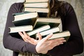 stock photo of librarian  - Reading and student college concept - JPG