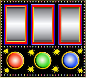 picture of slot-machine  - Colorful slot machine with three empty fields  - JPG