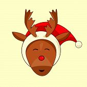pic of rudolph  - Xmas illustration of Rudolph the red nosed reindeer - JPG