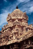 stock photo of trichy  - Gangaikonda Cholapuram Temple over blue sky - JPG