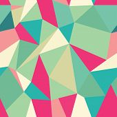 foto of parallelepiped  - Seamless Polygonal Pattern Background Texture Vector Hexagon Triangle - JPG