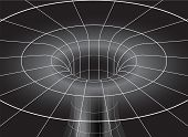 pic of distortion  - Vector Black Hole shown  in isometric view - JPG