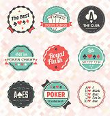 pic of ace spades  - Collection of Retro Style Poker Labels and Icons - JPG